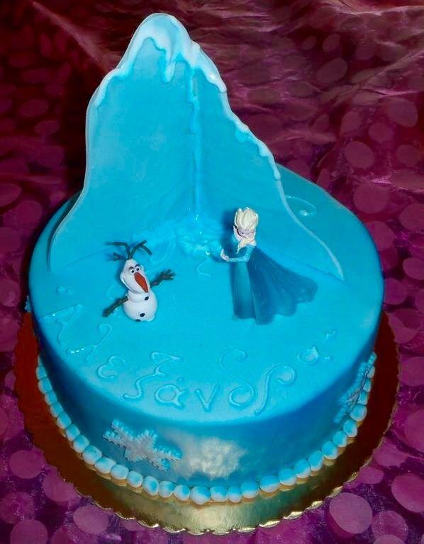 Frozen birthday cake handmade
