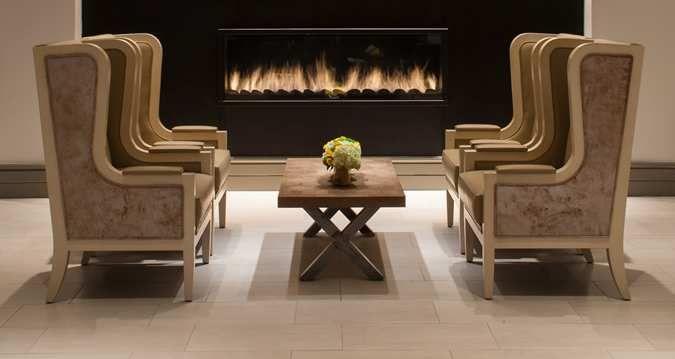 Hilton Dallas/Park Cities Hotel, Dallas TX - Lobby Fireplace ...