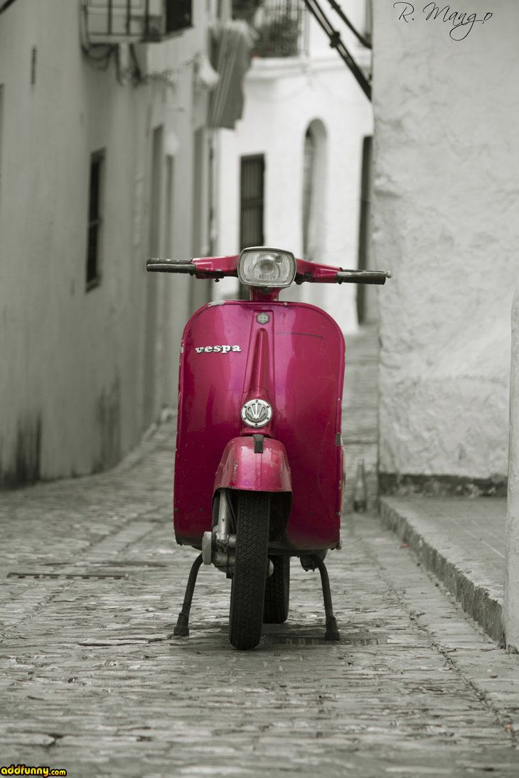 Vespa street Funny Pictures Add Funny