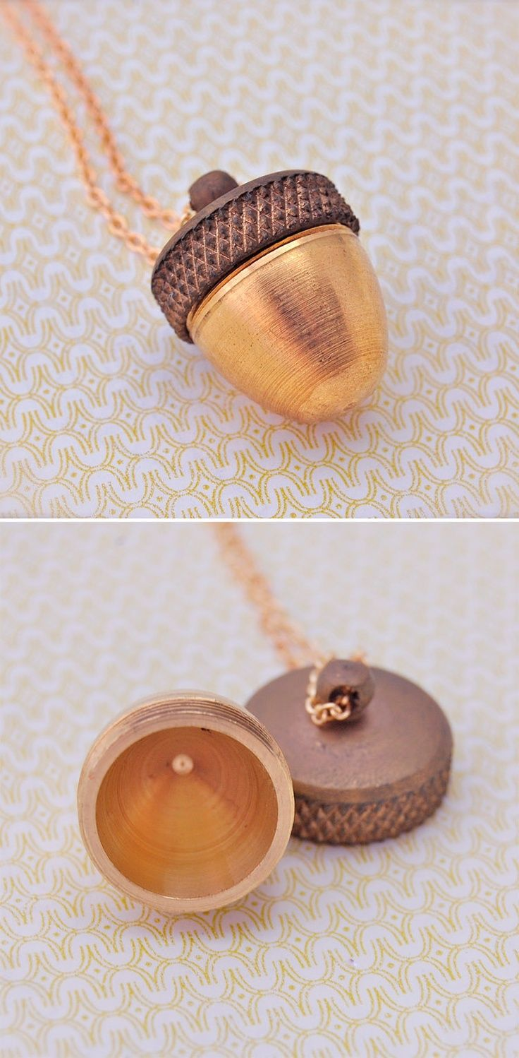 Acorn Secret Storage Canister Necklace http://uncovet.com/acorn-canister-necklace?via=HardPin=type294
