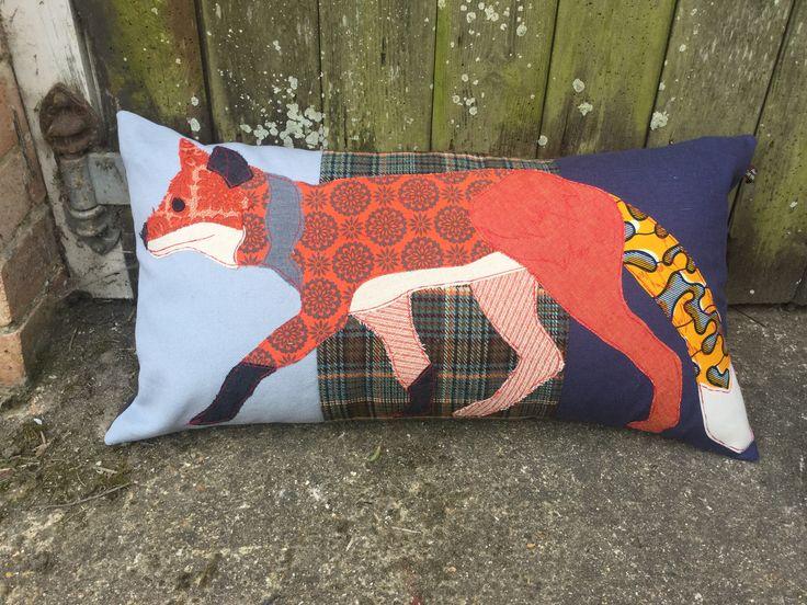 Fox cushion by Carola van Dyke www.carolavandyke.com