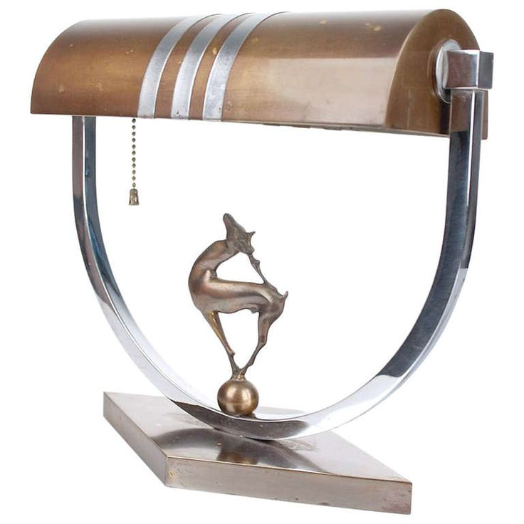 Art Deco Desk Lamp with Stag Deer Sculpture | From a unique collection of antique and modern table lamps at https://www.1stdibs.com/furniture/lighting/table-lamps/