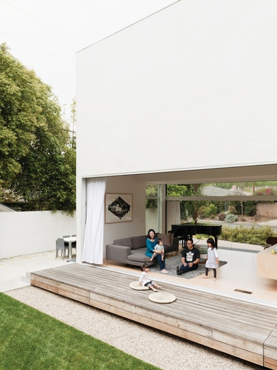 "Lee + Mundwiler Architects | designed to be ""a house in which to live out their days, then pass on to the next generations,"" complete with solar panels, a tankless water heater, a cool roof, & xeriscaping 