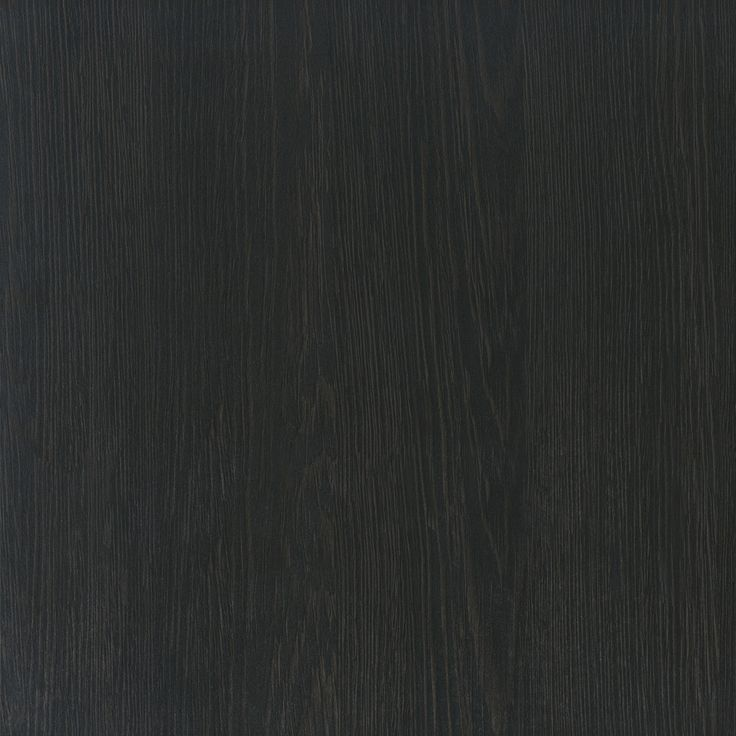 A pure black timber grain with slightly evident warm timber undertones, grain more evident in CREATEC gloss. Appears pure black with straight grain in RAVINE.