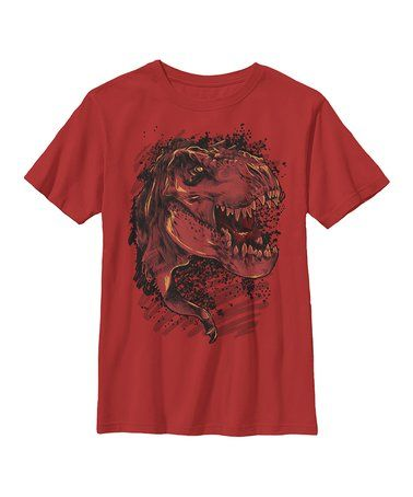 Look at this #zulilyfind! Red & Black Rex Inked Tee - Youth #zulilyfinds