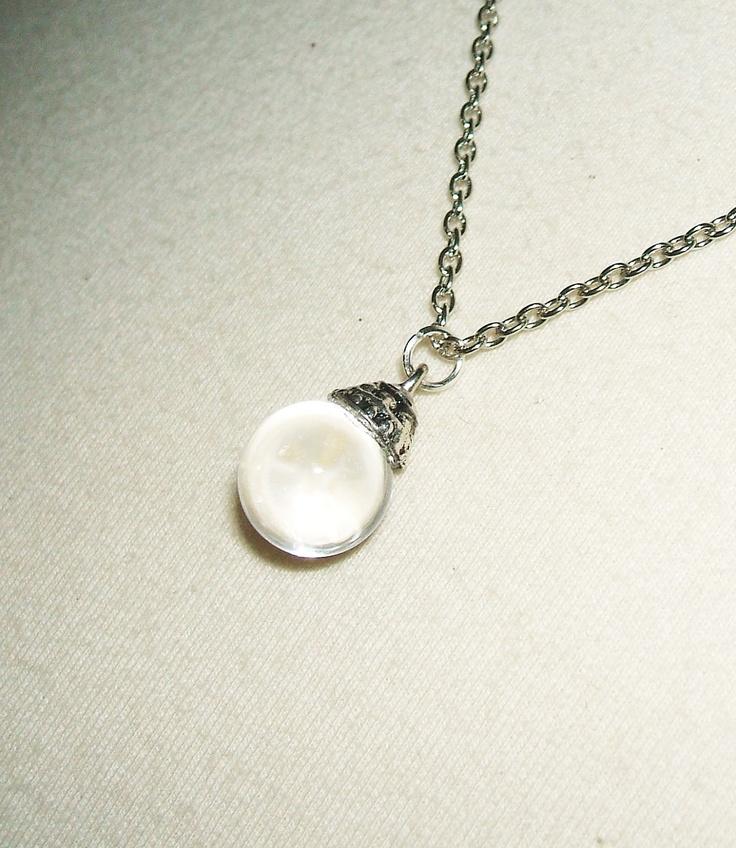 POOLS Of LIGHT Necklace NATURAL Rock Crystal Quartz Orb by artalot. $22.98 USD, via Etsy.