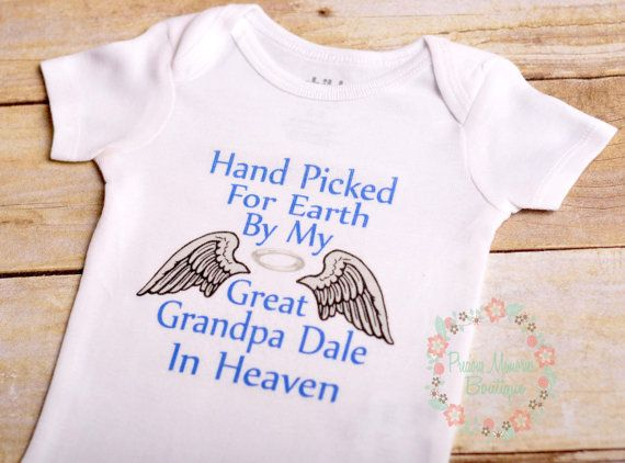Hand Picked for earth shirt heaven boy girl siblings personalized bodysuit made to order custom made shirt