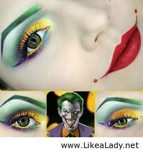 Joker makeup for Halloween
