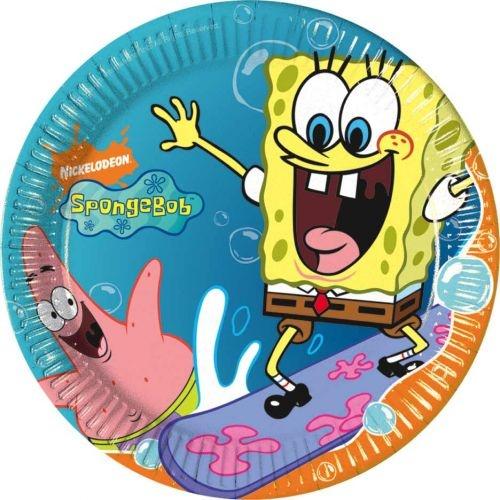 Spongya Surfing tányér 23cm 10 db | Party Point - Dekoráció - lufi, dekoráció, parti termék, esküvő, jelmezek, parókák...