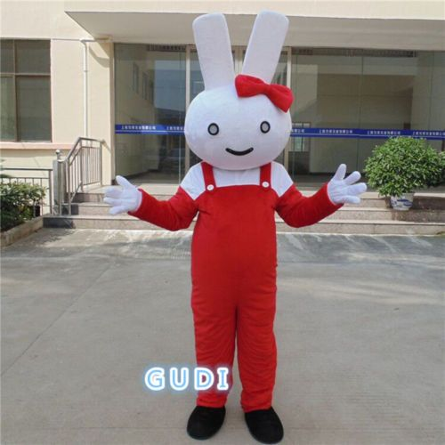 High quality miffy rabbit cartoon mascot costumes Halloween party adult size