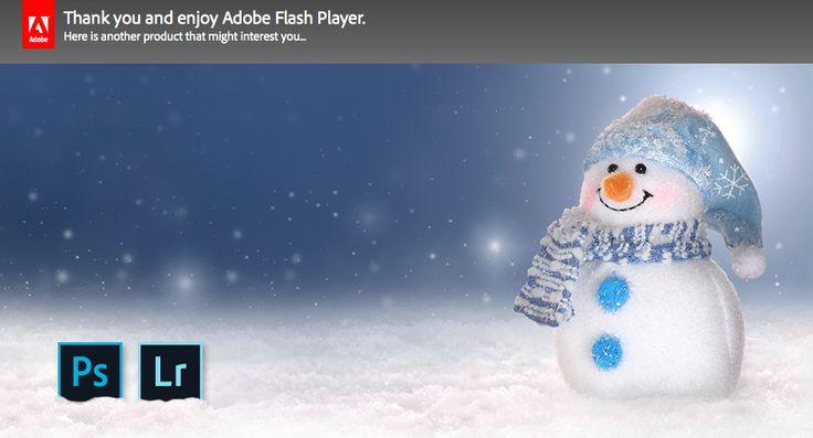 Adobe's cutest snowman upsell message
