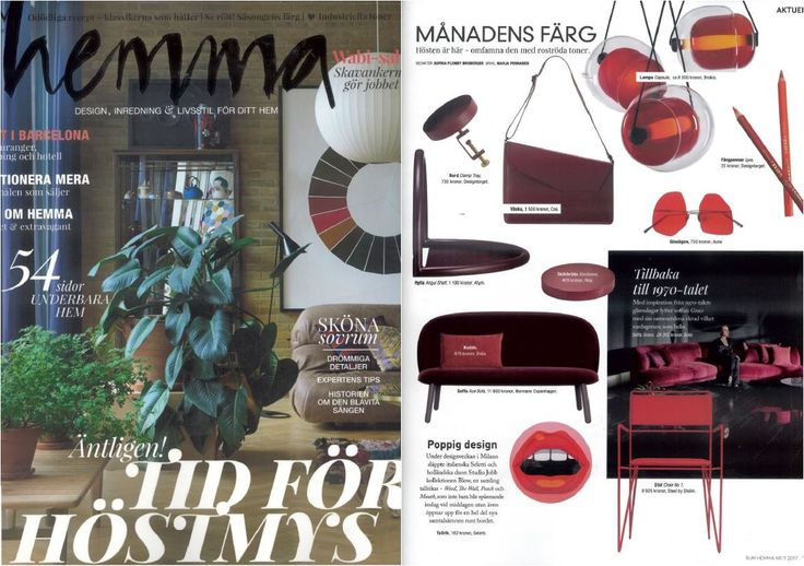 A bordeaux AYTM Angui shelf featured in Hemma!