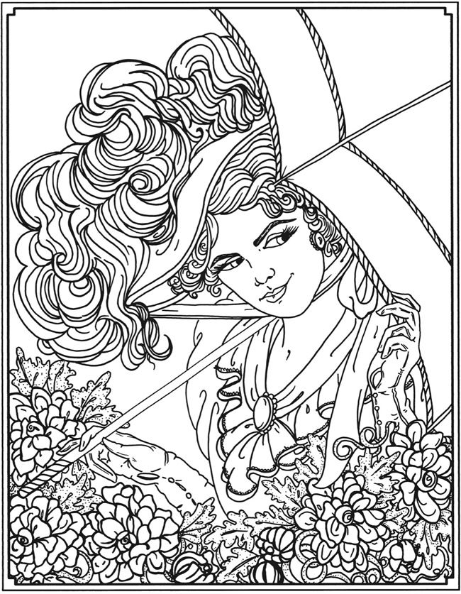 dover sampler creative haven american beauties coloring book