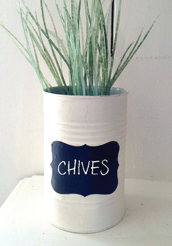 Indoor Herb Planter Box Part - 32: This DIY Upcycled Soup Can Is A Super Cute Addition To An Indoor Herb Garden .