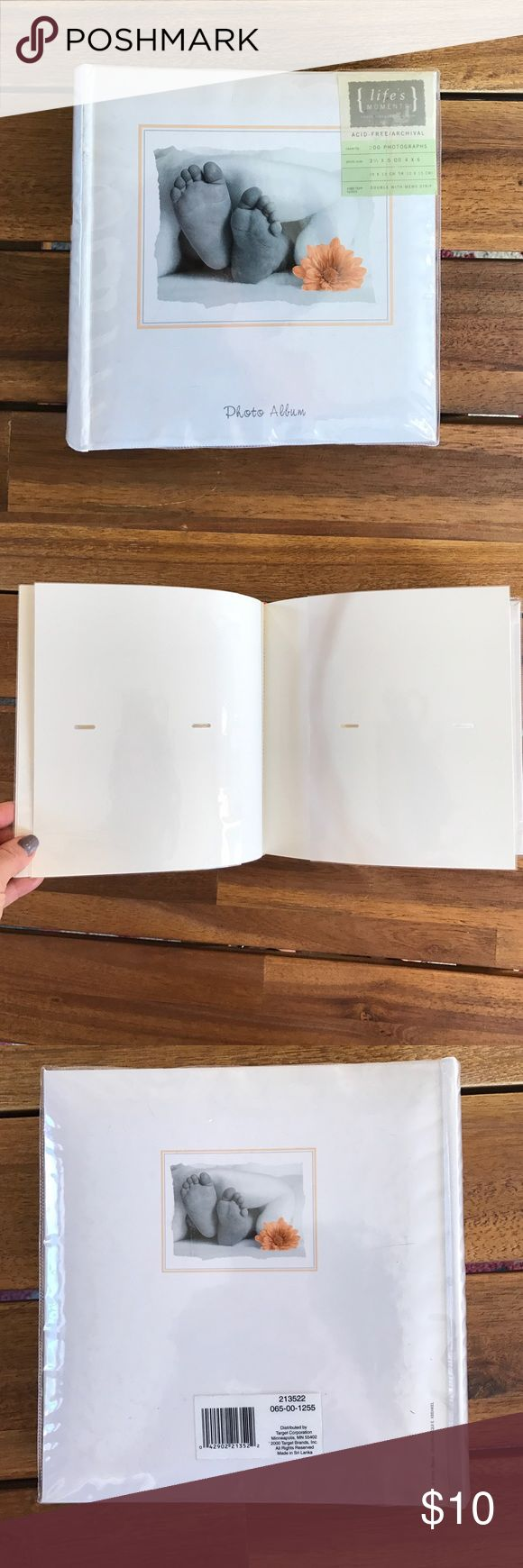 Baby Photo Album Holds 200 photos // 3.5 x 5 or 4 x 6 photos Other