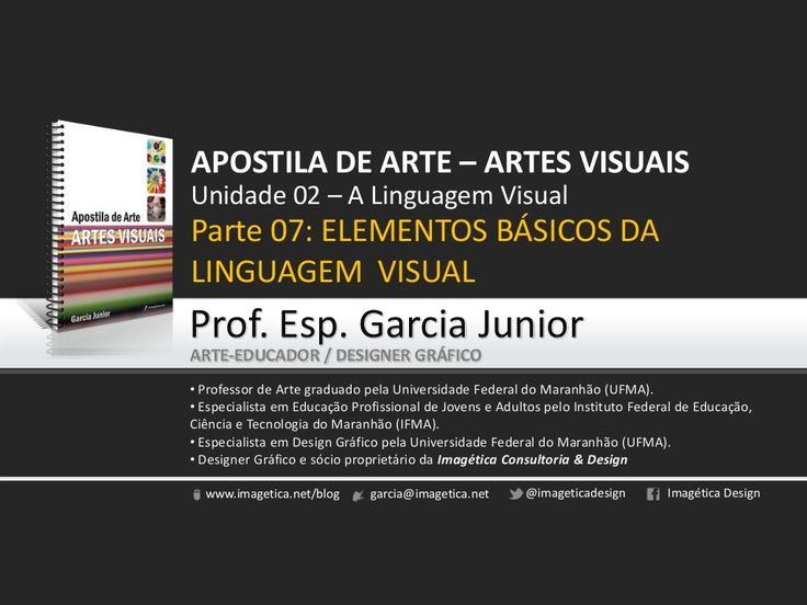 Elementos Básicos da Linguagem Visual. Prof. Garcia Junior by Garcia Junior via slideshare