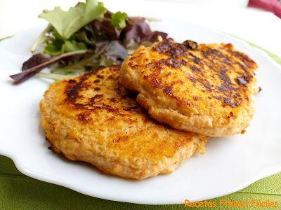 Hamburguesas de pollo y calabaza Recetas Fitness Fáciles