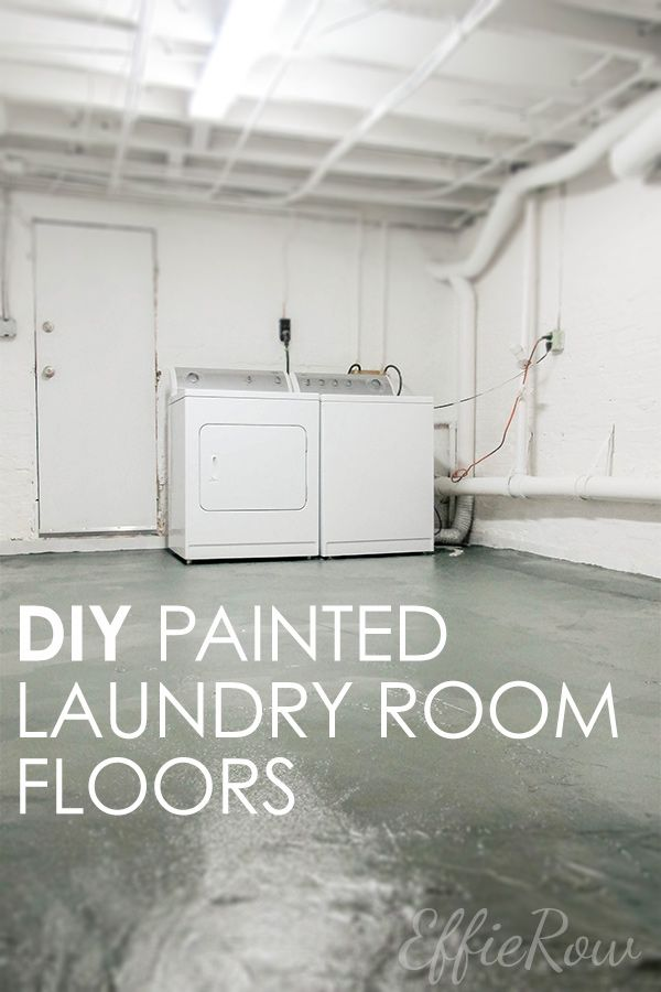 Nothing But Paint Laundry Room Makeover Painted Concrete Floors In 2020 Painted Concrete Floors Laundry Room Makeover Basement Laundry Room