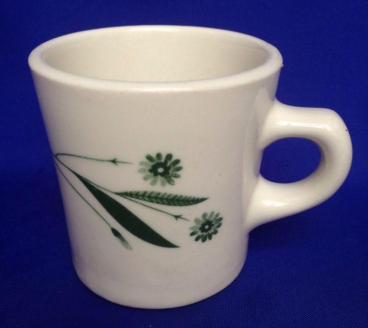 VTG McNicol Martin Diner Mug SUMMER DAZE White Green Restaurant Ware Coffee #McNicolMartin & 172 best Vintage Replacement China images on Pinterest | Cutlery ...