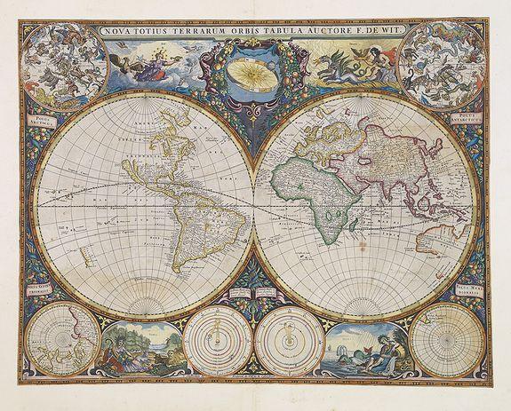 35 best Old World Maps images on Pinterest Antique maps, Old maps - best of world map fabric etsy