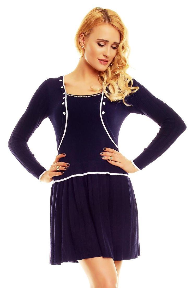 Navuy blue dress wełna 45% polyamid 25% kaszmir 20% elastan 10% #fashioneda