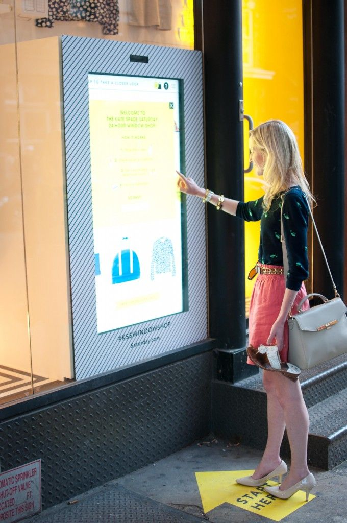 KATE SPADE SATURDAY STOREFRONT POPUP WITH TOUCH SCREEN NYC