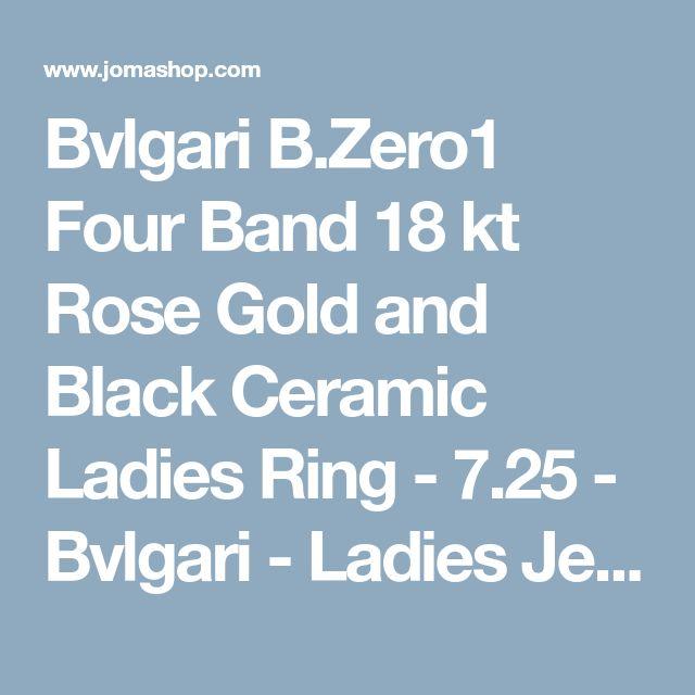 bvlgari bzero1 four band 18 kt rose gold and black ceramic ladies ring