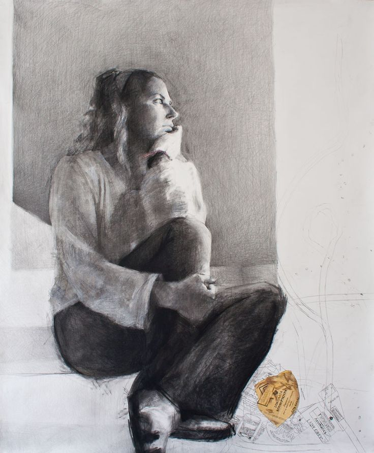 Marouso - 2010 - Pencil and charcoal on paper - 180x150cm