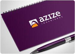 Diseño de logotipo para Azize, empresa de ingeniería mexicana que realiza todo tipo de proyectos de ingeniería civil, industrial y medioambiental.  Nuestro cliente buscaba renovar la imagen de su empresa dándole un cambio radical. Querían algo moderno, fresco, elegante, que destacase frente a sus competidores.
