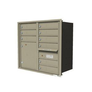 Versatile 4c Horizontal Cluster Mailboxes In Blonde Gold
