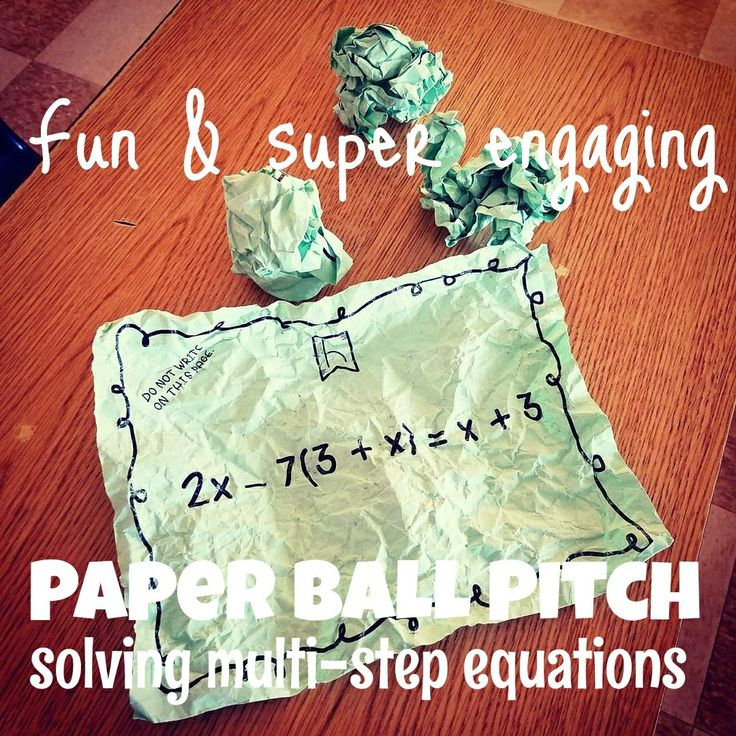 Students can't wait to play Paper Ball Pitch! Try this one to practice Solving Multi-Step Equations. Order of Operations & Dividing Fractions also available.