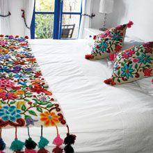 caminos de mesa bordados con lana - Buscar con Google