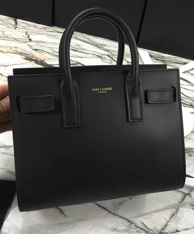 YSL Downtown Tote Cow Leather Bags in Black. 2016 Women Fashion.
