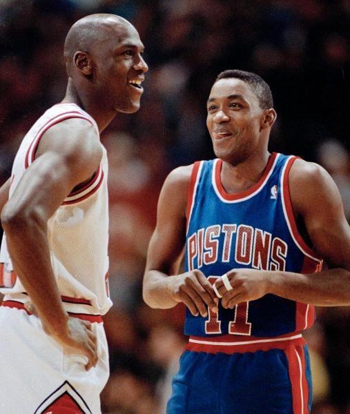 Jordan vs. Thomas : Classic photos of Michael Jordan
