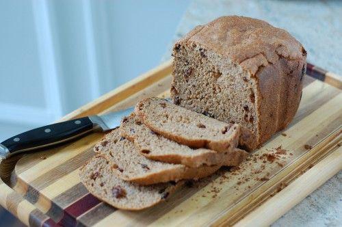 YUM!  whole-wheat cinnamon raisin bread (for bread machine)