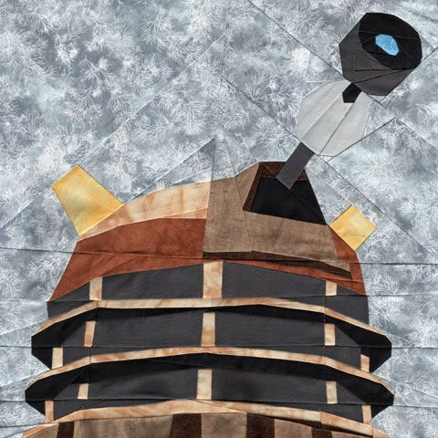 Dalek Doctor Who Quilt Block