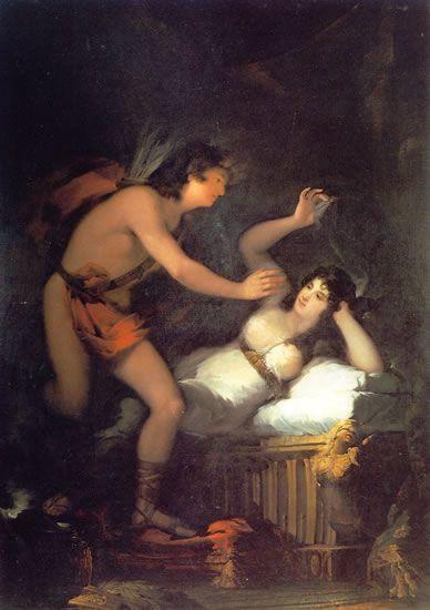 Francisco de Goya - Alegoría del amor o Cupido y Psique
