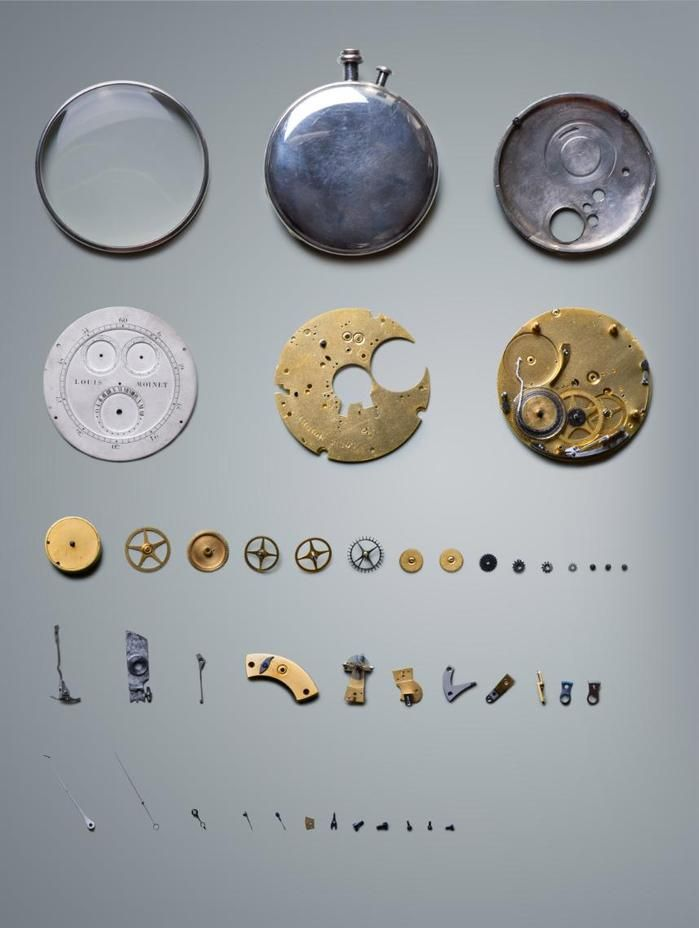 Parts of an 1815 Louis Moinet chronograph