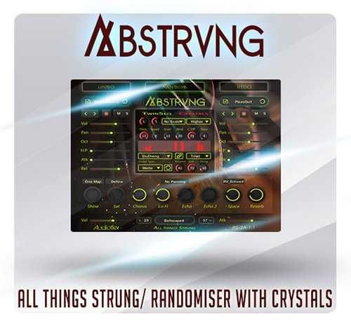 Abstrung v1.1 KONTAKT-SYNTHiC4TE, kontakt samples-audio, Upright, SYNTHiC4TE, Pipa, Mandolin, Kontakt, Kantele, Hammered Dulcimer, Guzheng, American Zither, Acoustic Guitars, Acoustic Grand, Abstrung