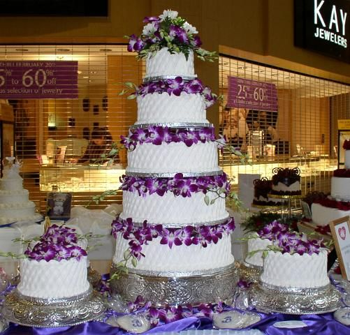 5 Tier Purple Wedding Cakes Tier Purple Jpg Purple And