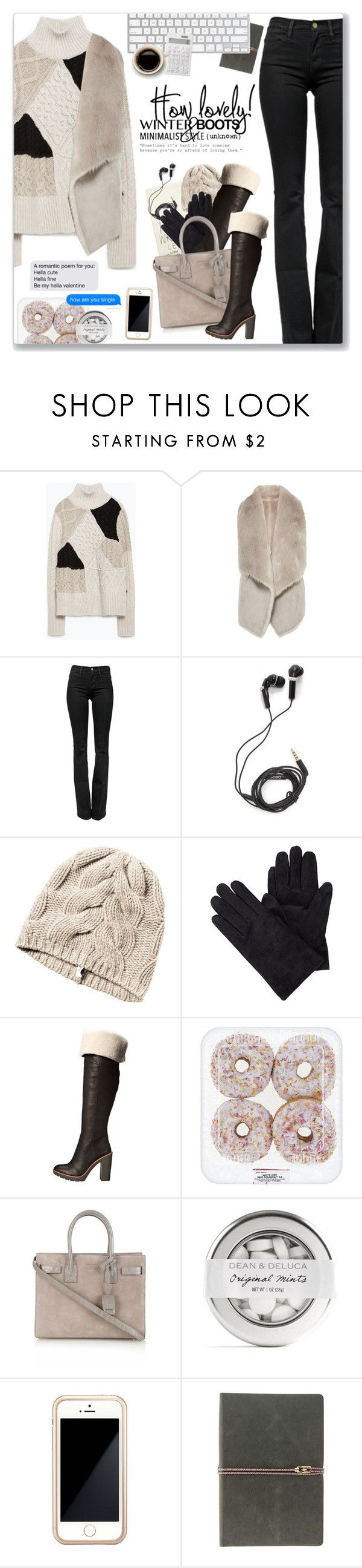 """""""Imbranato, Tiziano Ferro"""" by blendasantos ❤ liked on Polyvore featuring Zara, Coast, Frame Denim, DEOS, Kate Spade, Yves Saint Laurent, Squair, Love Quotes Scarves, Muji and Minimaliststyle"""