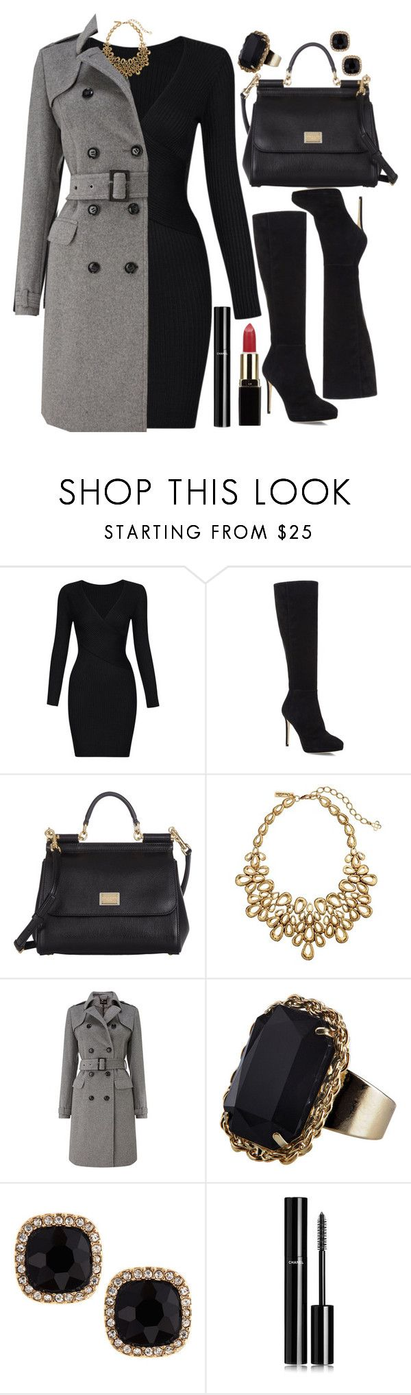 """""""Untitled #4250"""" by natalyasidunova ❤ liked on Polyvore featuring Jimmy Choo, Dolce&Gabbana, Oscar de la Renta, Phase Eight, Monsoon, Fragments and Chanel"""