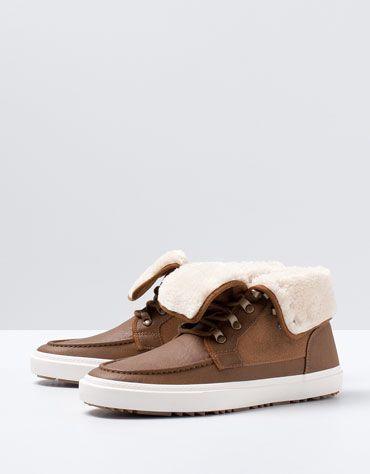 Bershka Turkey - Shearling nautical ankle boots