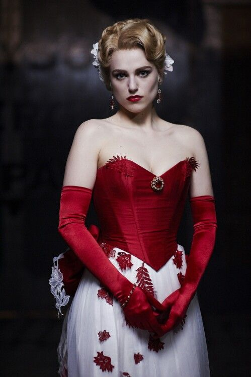 """Katie Mcgrath as Lucy Westenra in tv serie """"Dracula"""" (2013). Costume design by Annie Symons."""