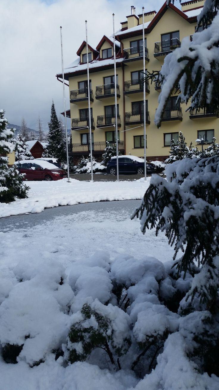 Śnieżna aura króluje w Muszynie! #hotel #muszyna #poland #polska #góry #hotelklimek #spa #śnieg #zima #snow #pięknie #biało #odpoczynek #rest #ferie #natura #bieskidy #beskid