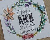 Può io Kick It - 4x4 floreale Hip Hop testi stampa