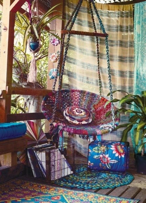 Boho Swing Chair Hippie Boho Gypsy☮ Bohemian Porch