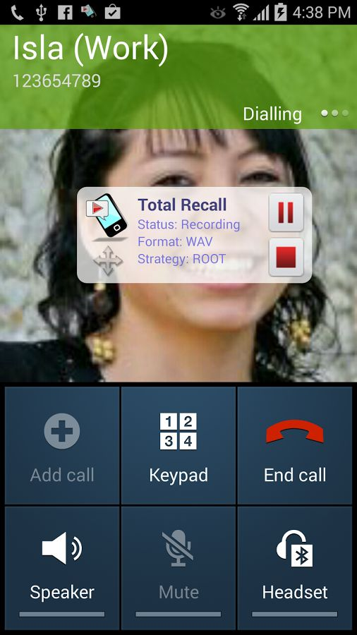 The app Called Total Recall call recorder.