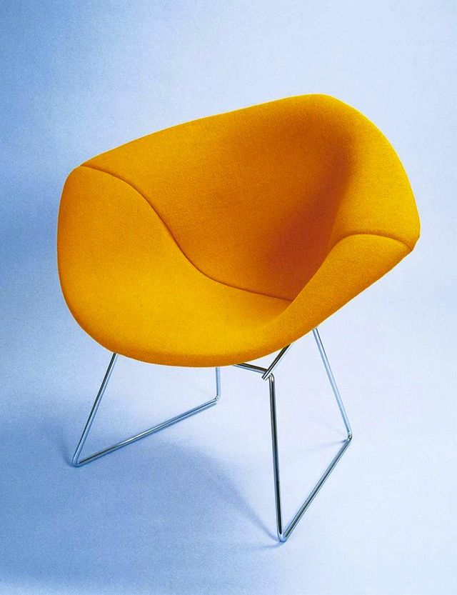 small diamond chair - full cover. Design Harry Bertoia, 1952