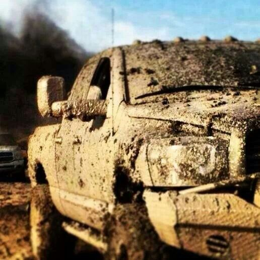 This is what my truck looks like every time after we go play in the mud